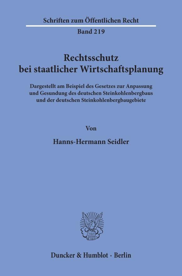 Cover Rechtsschutz bei staatlicher Wirtschaftsplanung