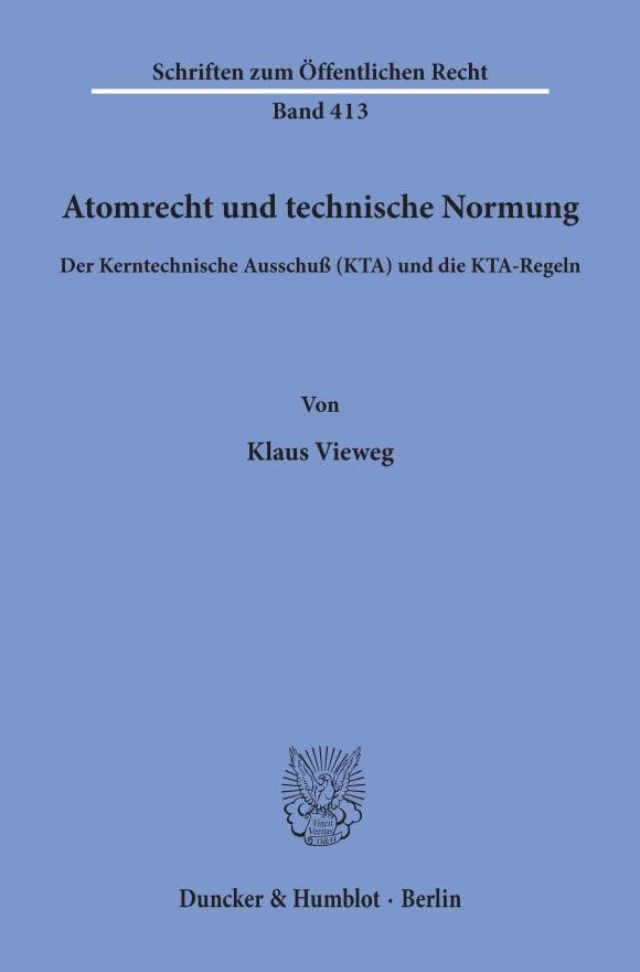 Cover Atomrecht und technische Normung
