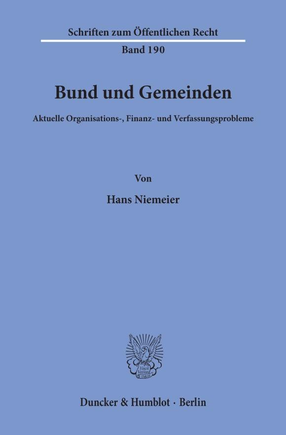 Cover Bund und Gemeinden