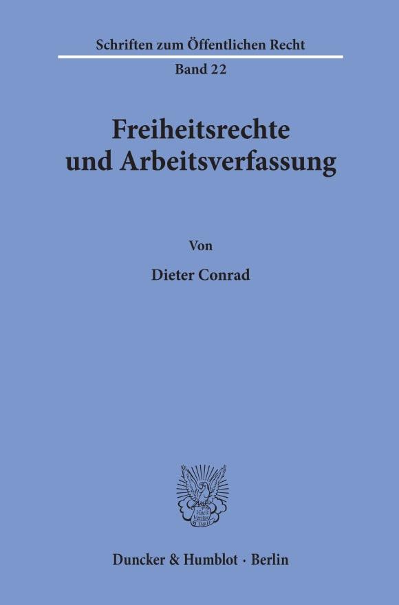 Cover Freiheitsrechte und Arbeitsverfassung