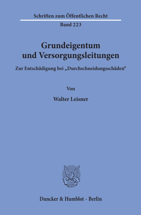 Cover Grundeigentum und Versorgungsleitungen