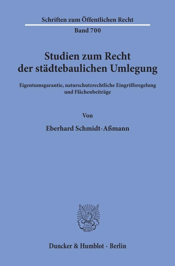 Cover Studien zum Recht der städtebaulichen Umlegung