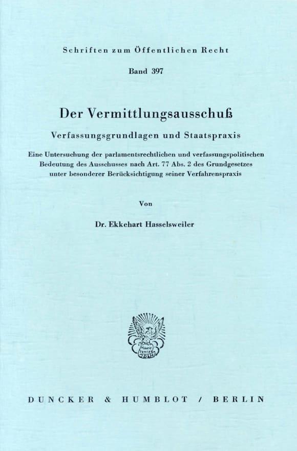 Cover Der Vermittlungsausschuß