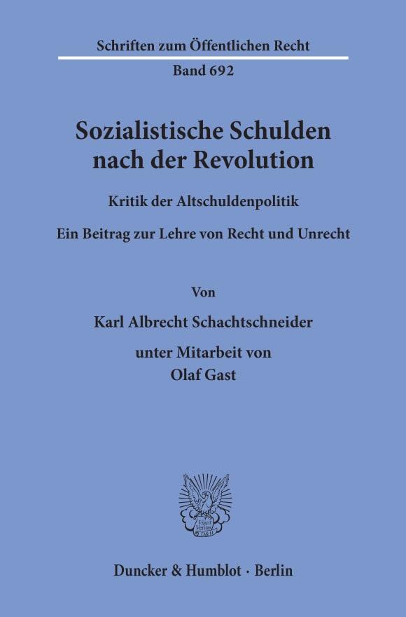 Cover Sozialistische Schulden nach der Revolution