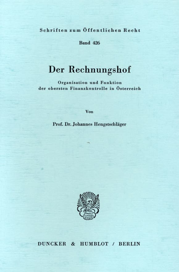 Cover Der Rechnungshof