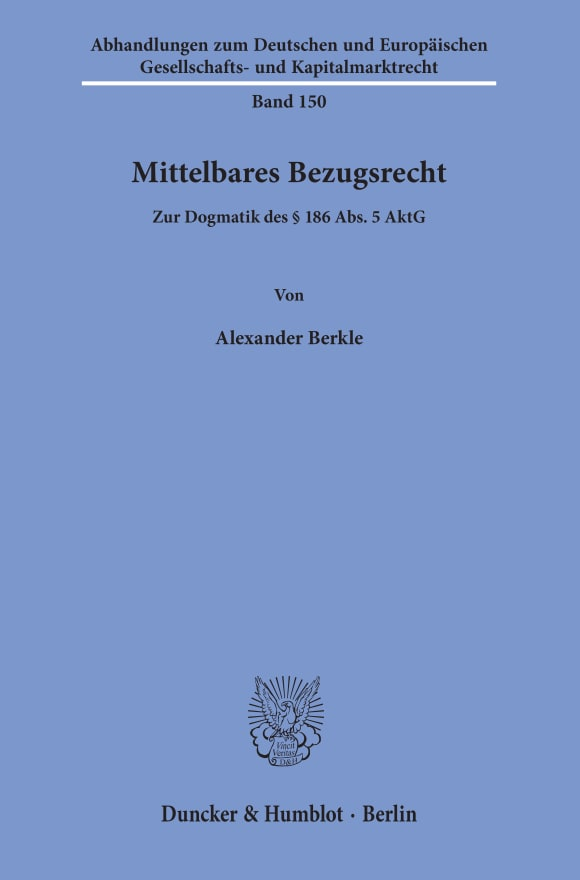 Cover Mittelbares Bezugsrecht