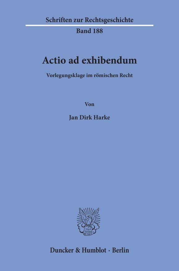 Cover Actio ad exhibendum