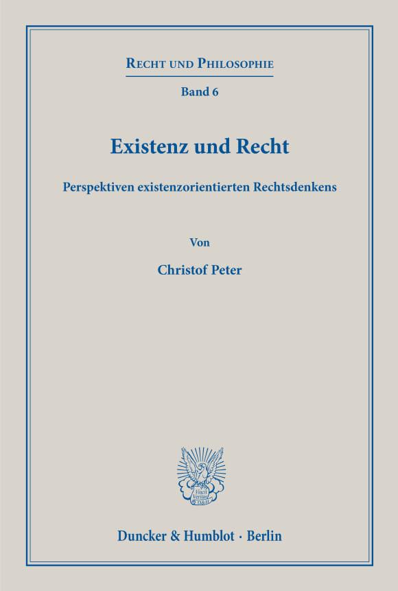 Cover Existenz und Recht