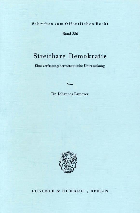 Cover Streitbare Demokratie