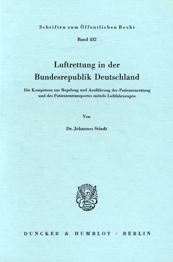 Cover Luftrettung in der Bundesrepublik Deutschland
