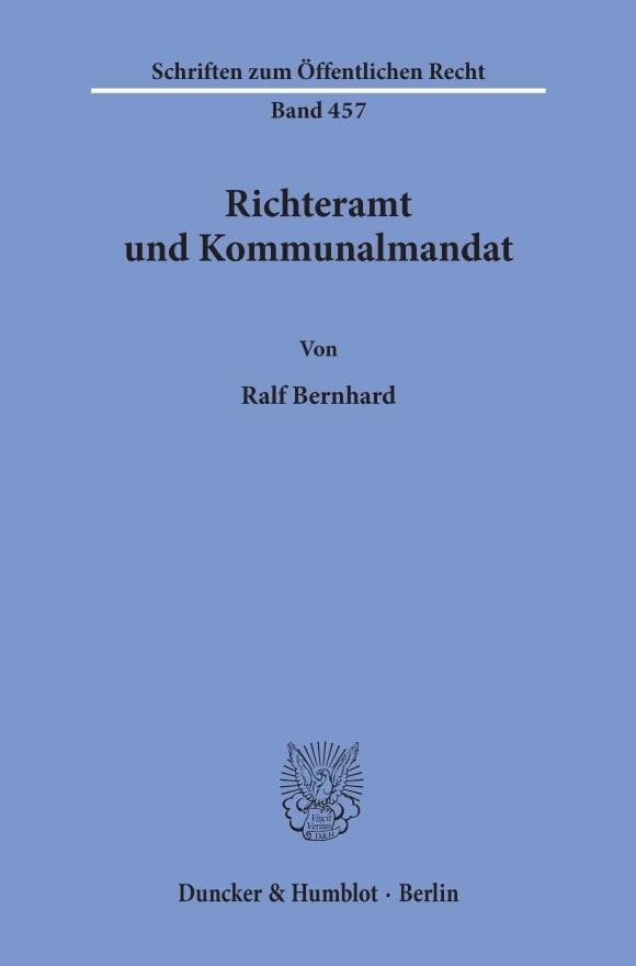 Cover Richteramt und Kommunalmandat
