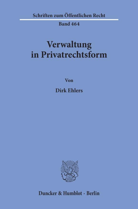 Cover Verwaltung in Privatrechtsform