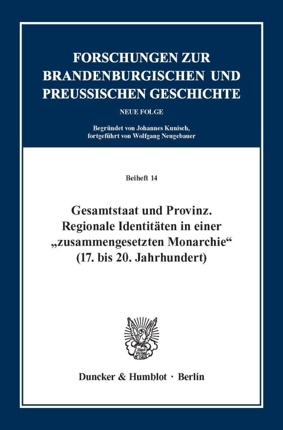Cover Forschungen zur Brandenburgischen und Preußischen Geschichte. Neue Folge. Beihefte (BH FBPG)
