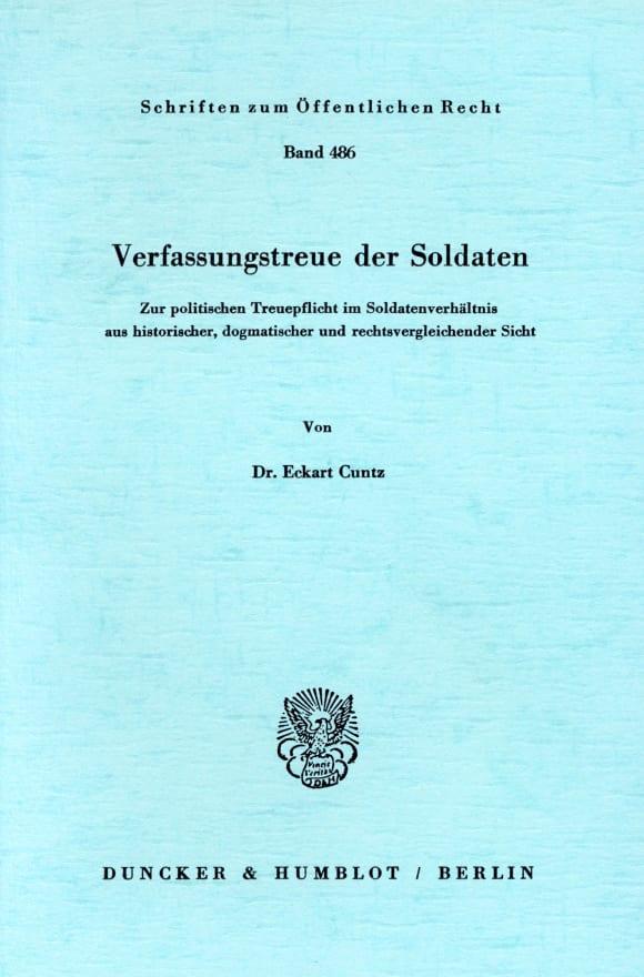 Cover Verfassungstreue der Soldaten