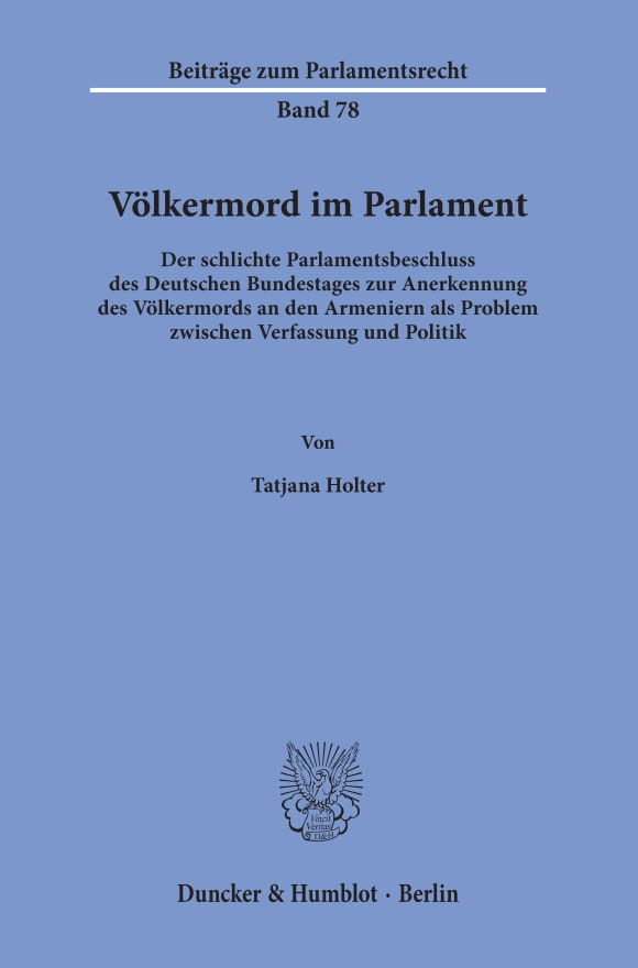 Cover Völkermord im Parlament