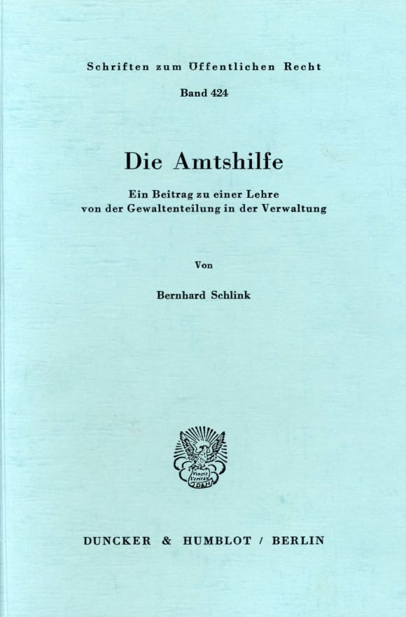 Cover Die Amtshilfe