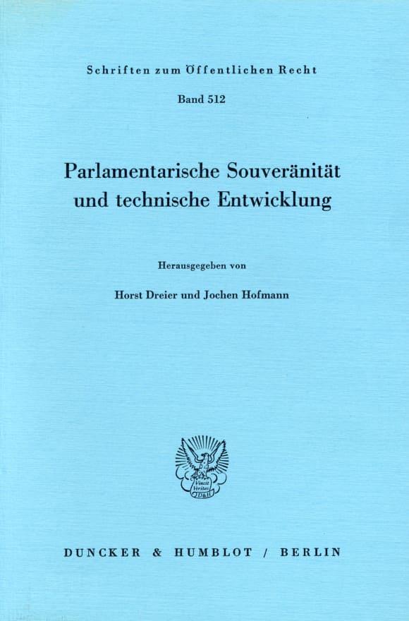 Cover Parlamentarische Souveränität und technische Entwicklung