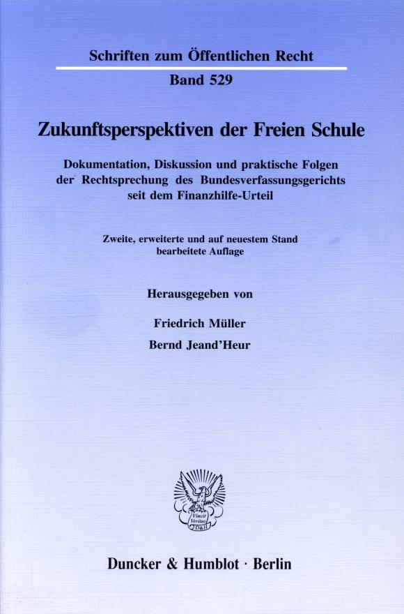 Cover Zukunftsperspektiven der Freien Schule
