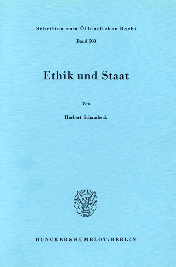 Cover Ethik und Staat