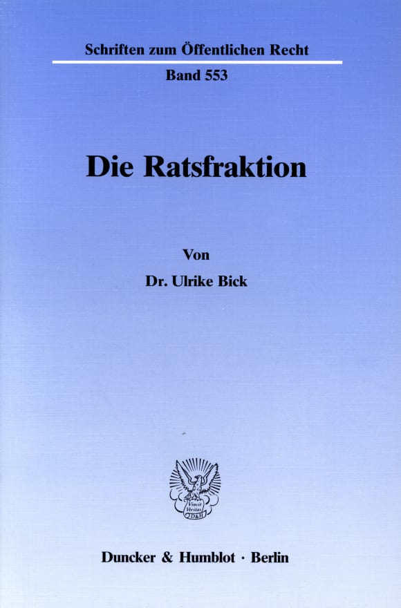 Cover Die Ratsfraktion