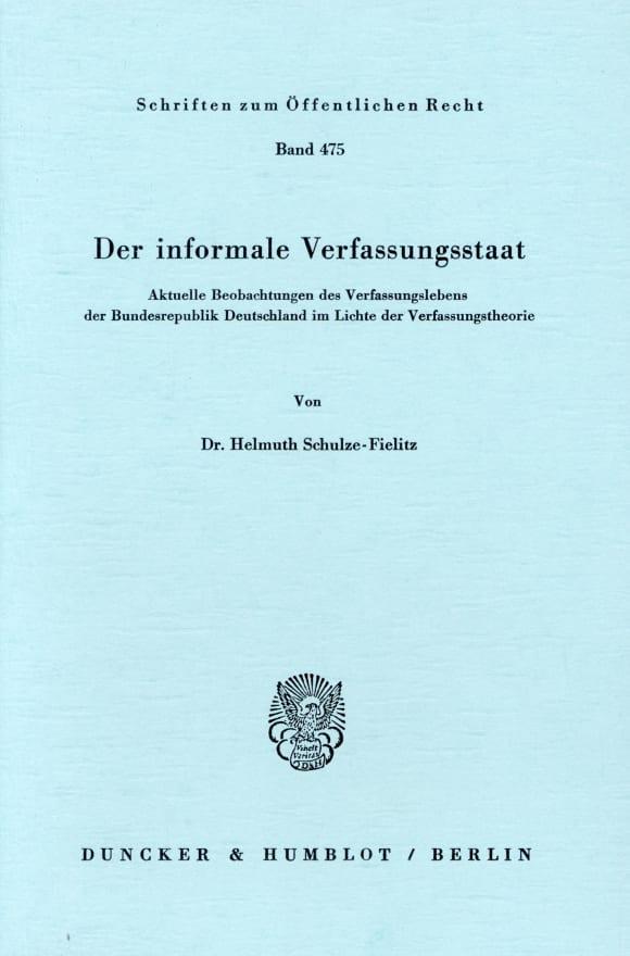 Cover Der informale Verfassungsstaat