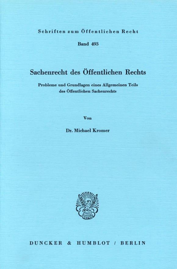 Cover Sachenrecht des Öffentlichen Rechts
