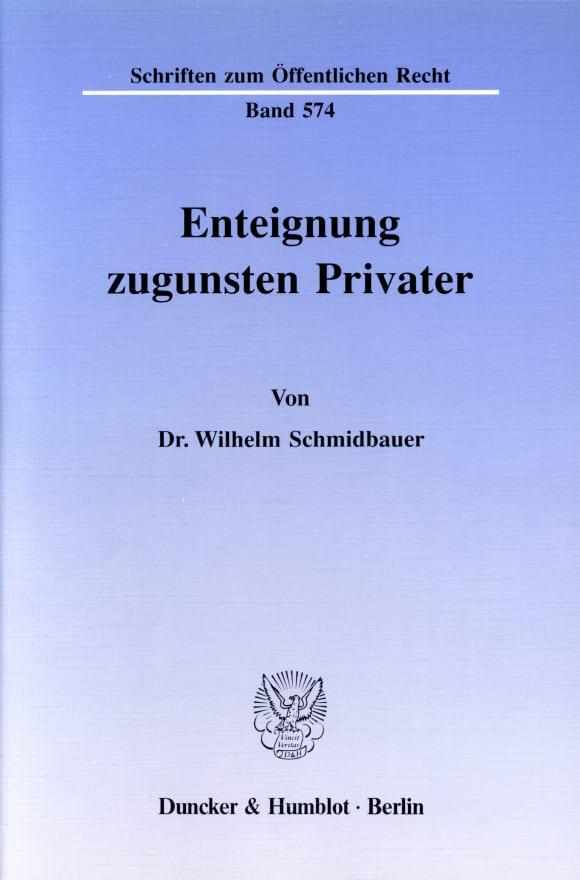 Cover Enteignung zugunsten Privater