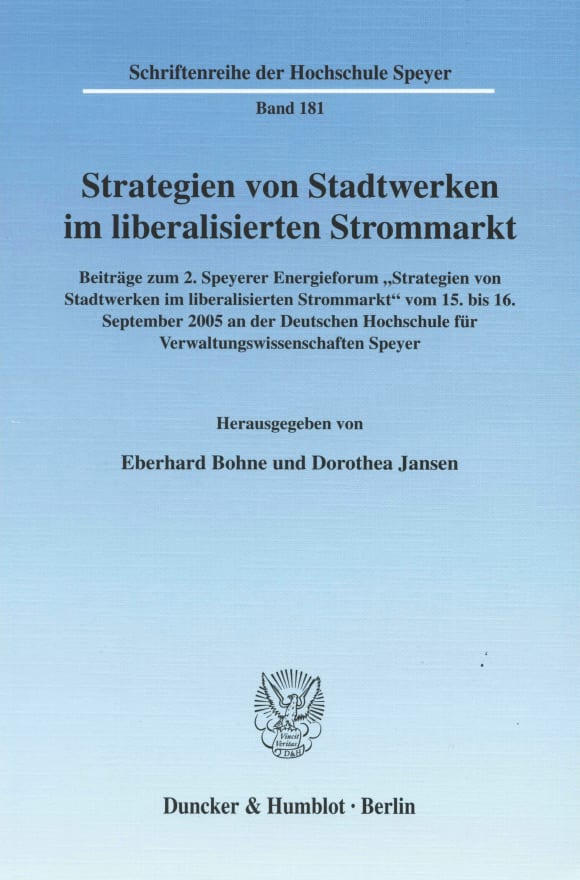 Cover Strategien von Stadtwerken im liberalisierten Strommarkt