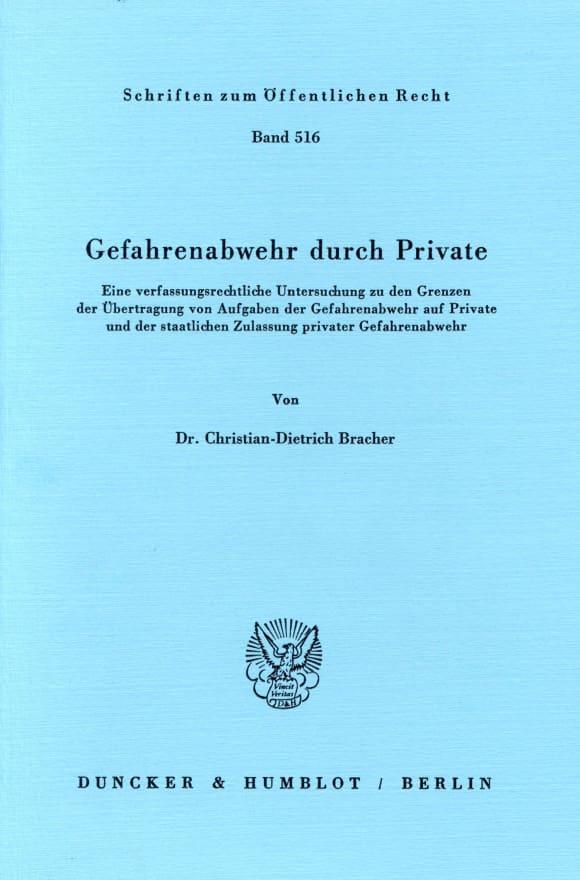 Cover Gefahrenabwehr durch Private