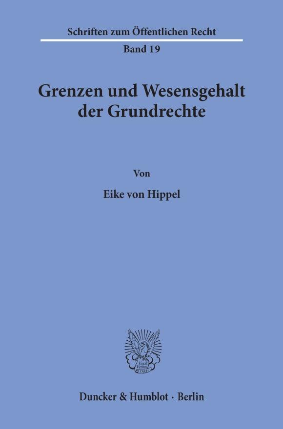 Cover Grenzen und Wesensgehalt der Grundrechte