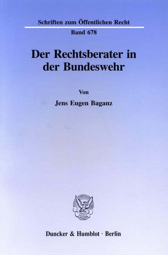 Cover Der Rechtsberater in der Bundeswehr