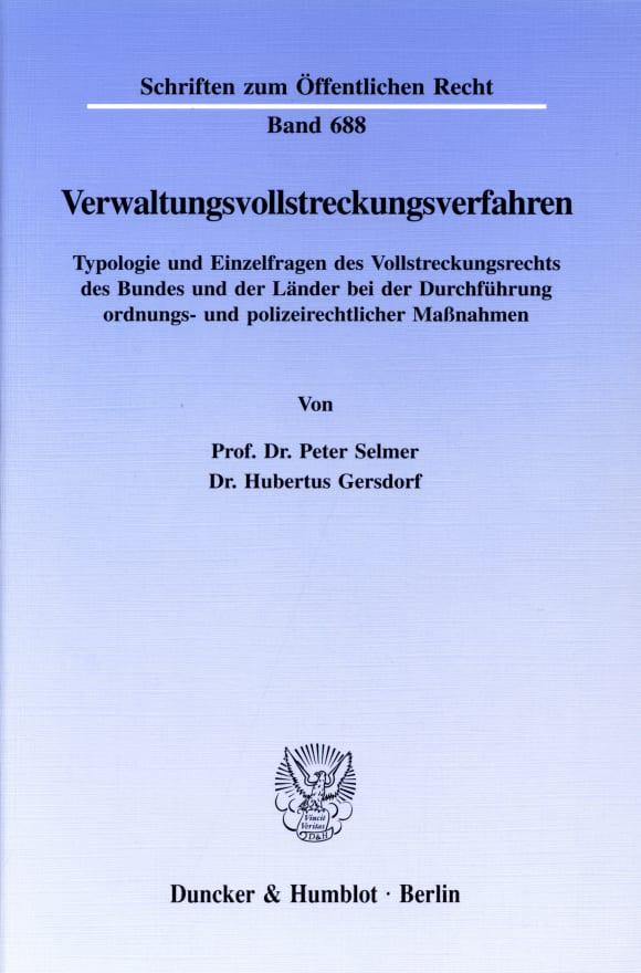 Cover Verwaltungsvollstreckungsverfahren