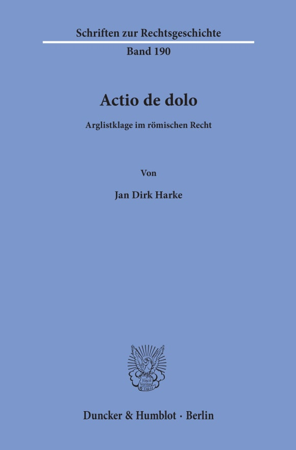 Cover Actio de dolo