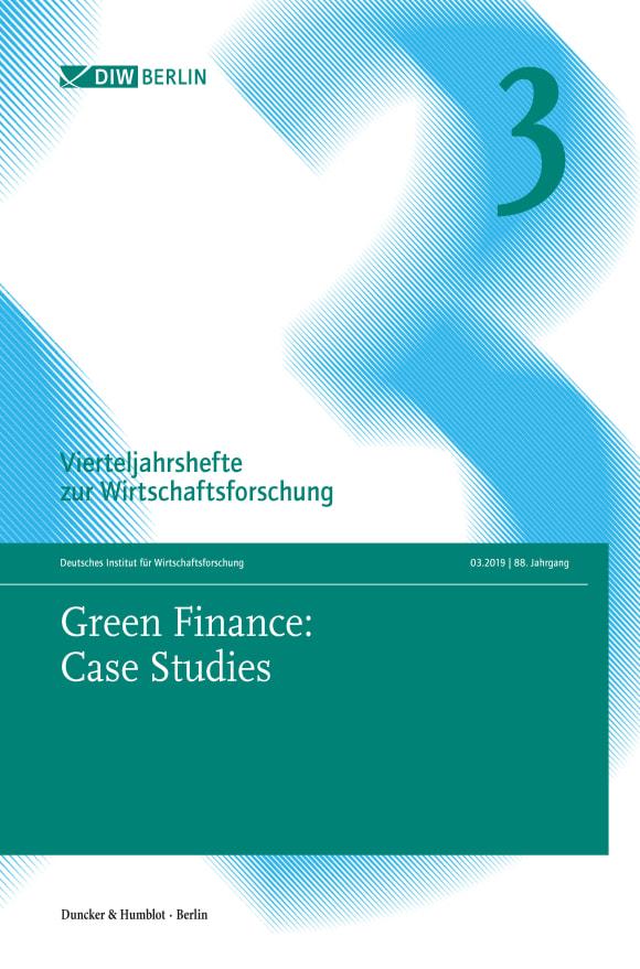 Cover Green Finance: Case Studies