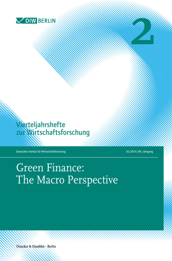 Cover Green Finance: The Macro Perspective (VJH 2/2019)