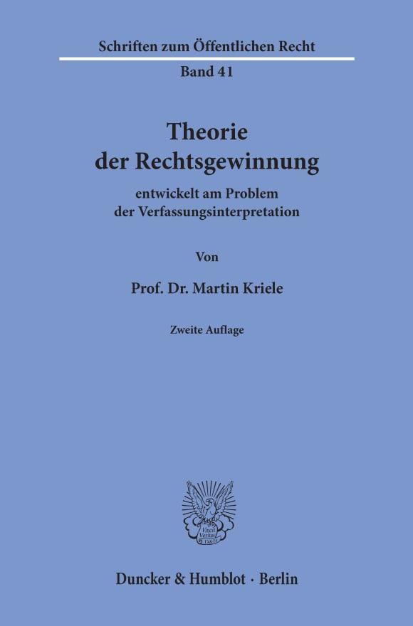 Cover Theorie der Rechtsgewinnung