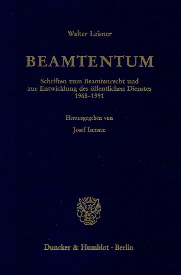 Cover Beamtentum