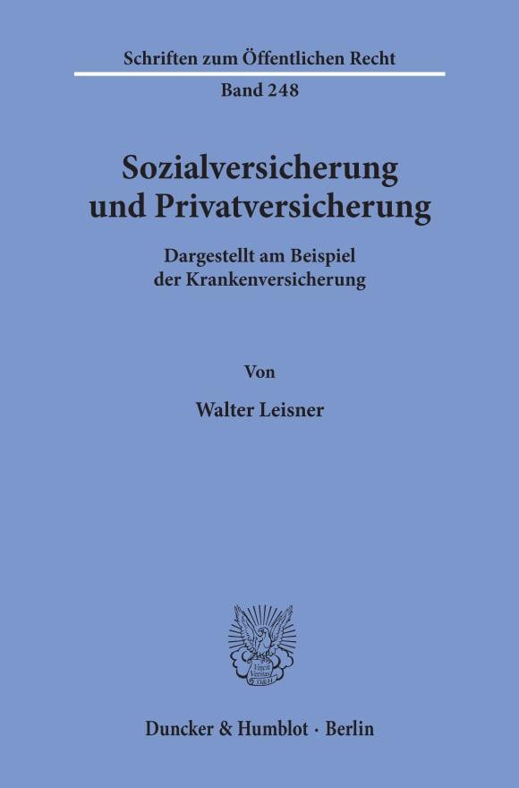 Cover Sozialversicherung und Privatversicherung