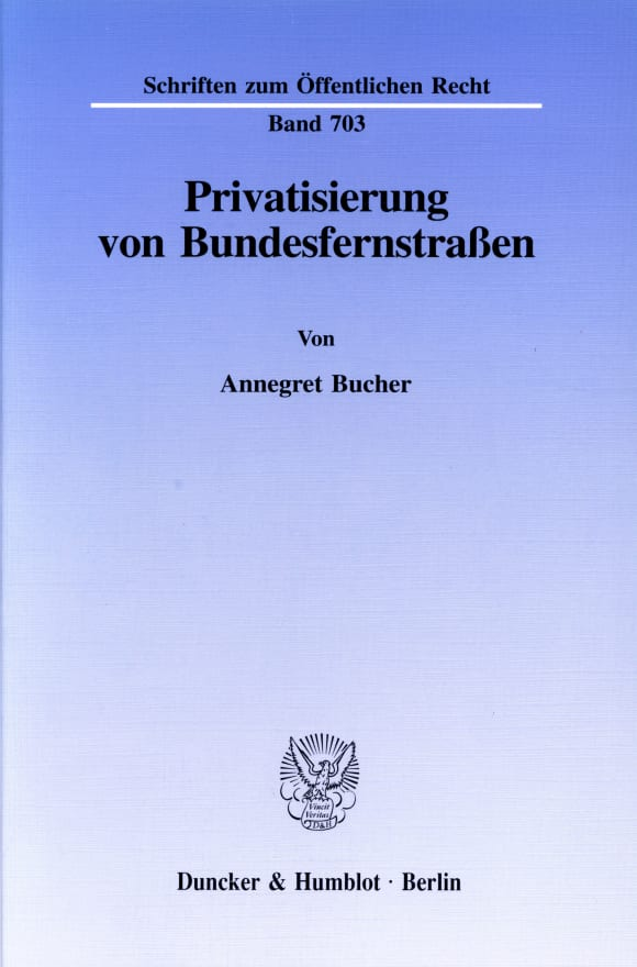 Cover Privatisierung von Bundesfernstraßen