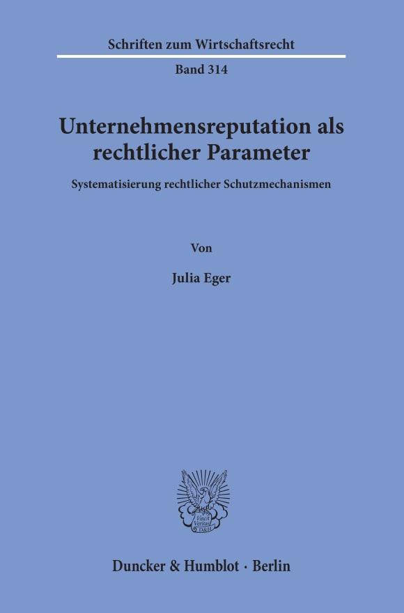 Cover Unternehmensreputation als rechtlicher Parameter