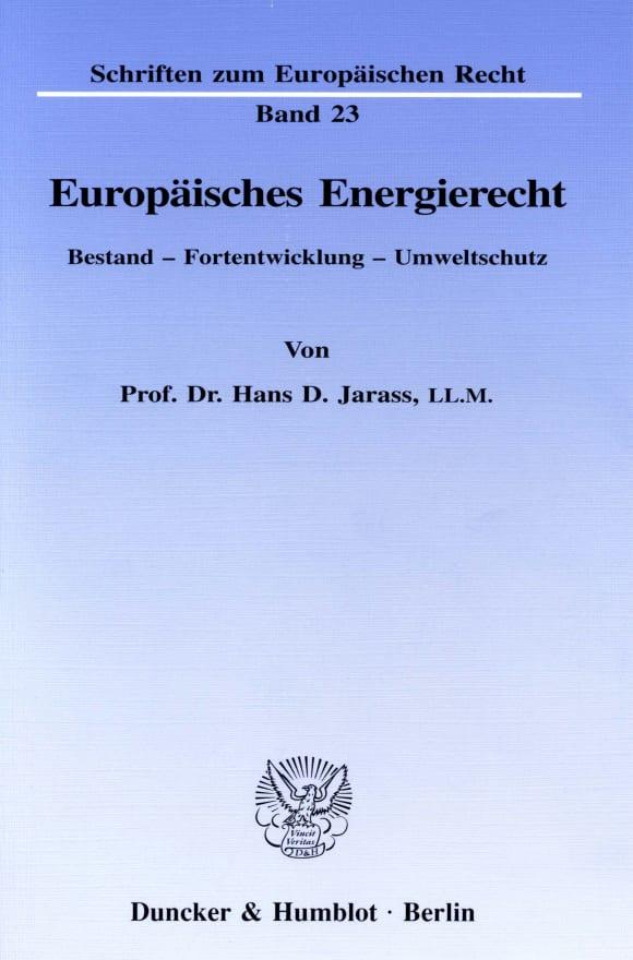 Cover Europäisches Energierecht