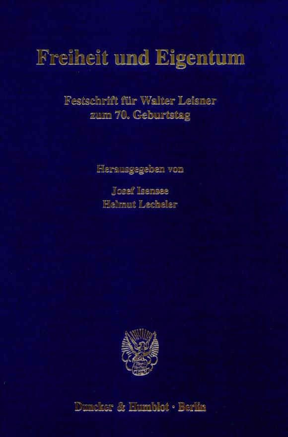 Cover Freiheit und Eigentum