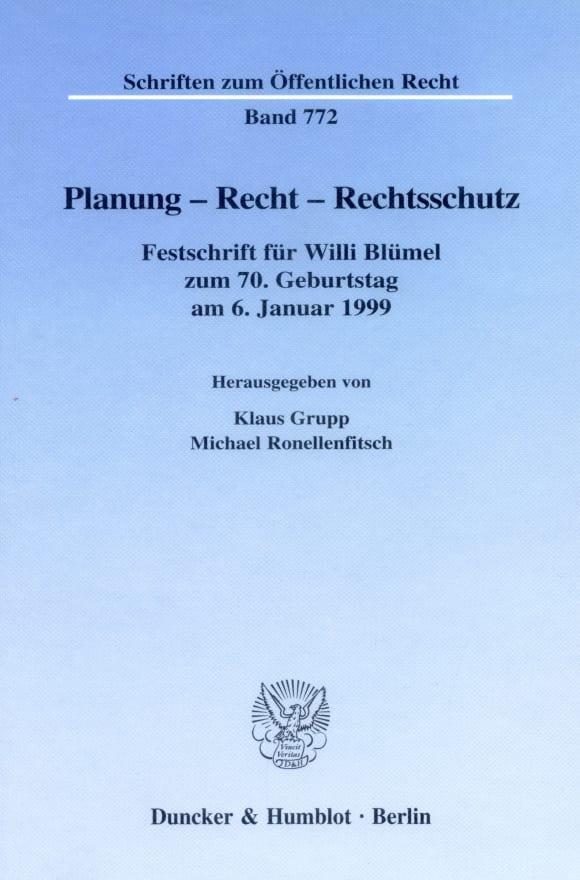 Cover Planung - Recht - Rechtsschutz
