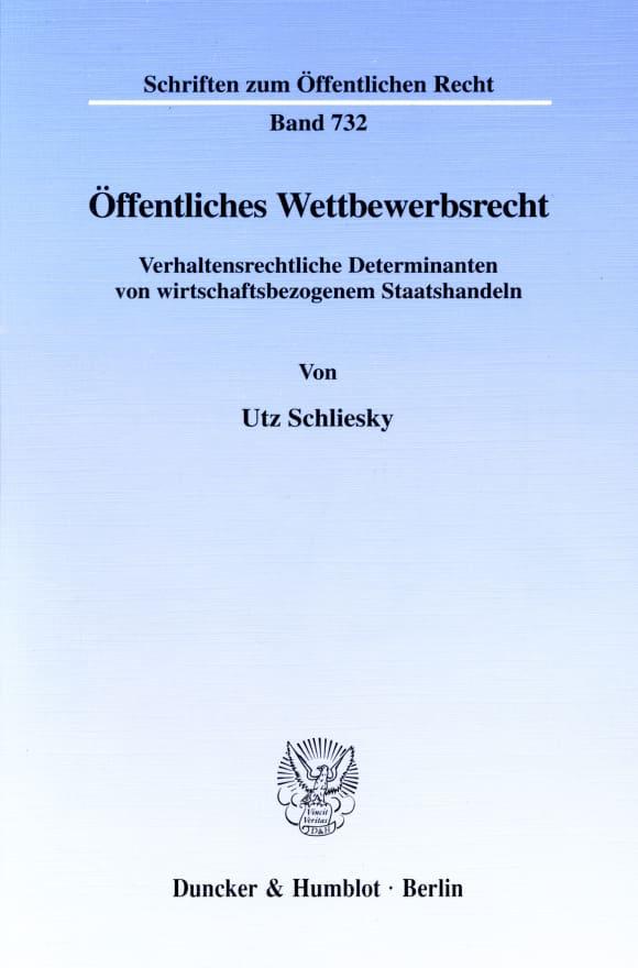 Cover Öffentliches Wettbewerbsrecht