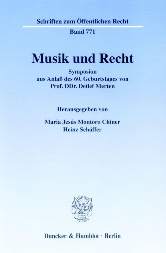 Cover Musik und Recht