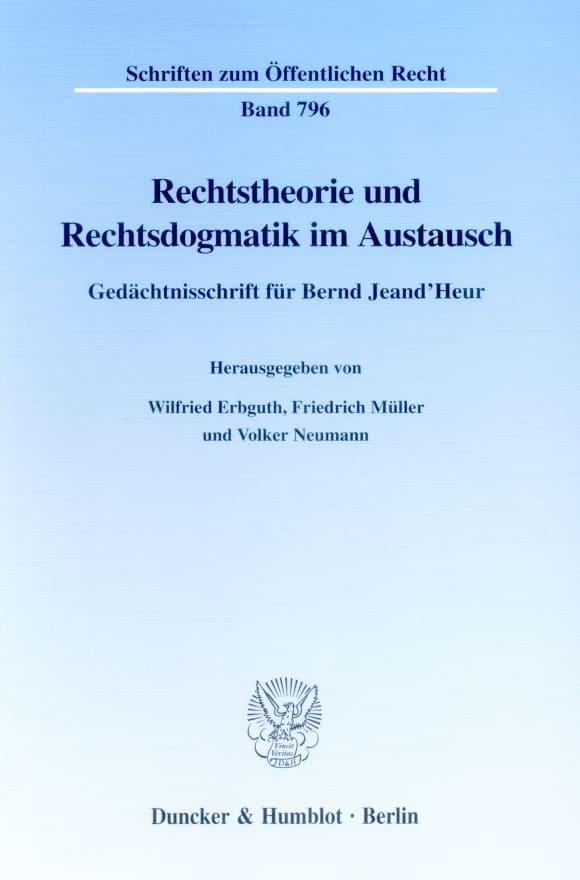 Cover Rechtstheorie und Rechtsdogmatik im Austausch