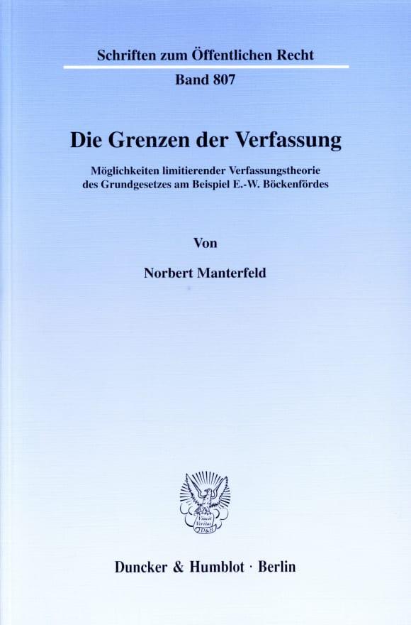Cover Die Grenzen der Verfassung