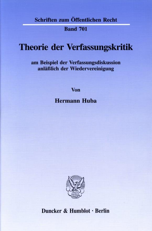 Cover Theorie der Verfassungskritik