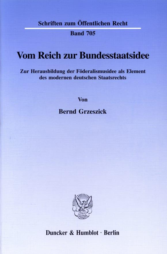 Cover Vom Reich zur Bundesstaatsidee