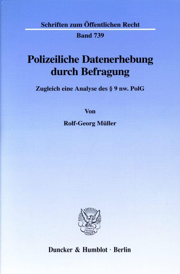 Cover Polizeiliche Datenerhebung durch Befragung